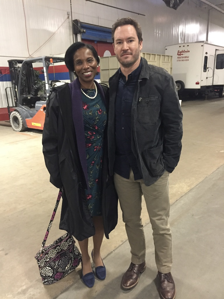 Super dope after shooting scene with the amazing Mark Paul Gosselaar from  Saved By The Bell  on set of  The Passage !
