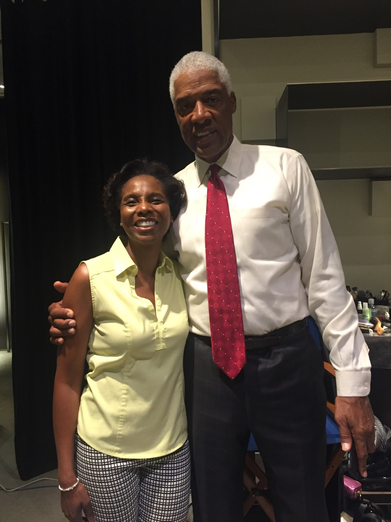 This was a commercial shoot with all-time champ Dr. J!