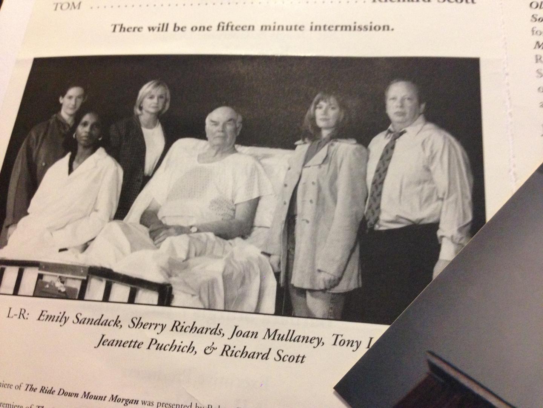 Cast of Arthur Miller's  Ride Down Mt. Morgan  at Salt Lake Acting Company