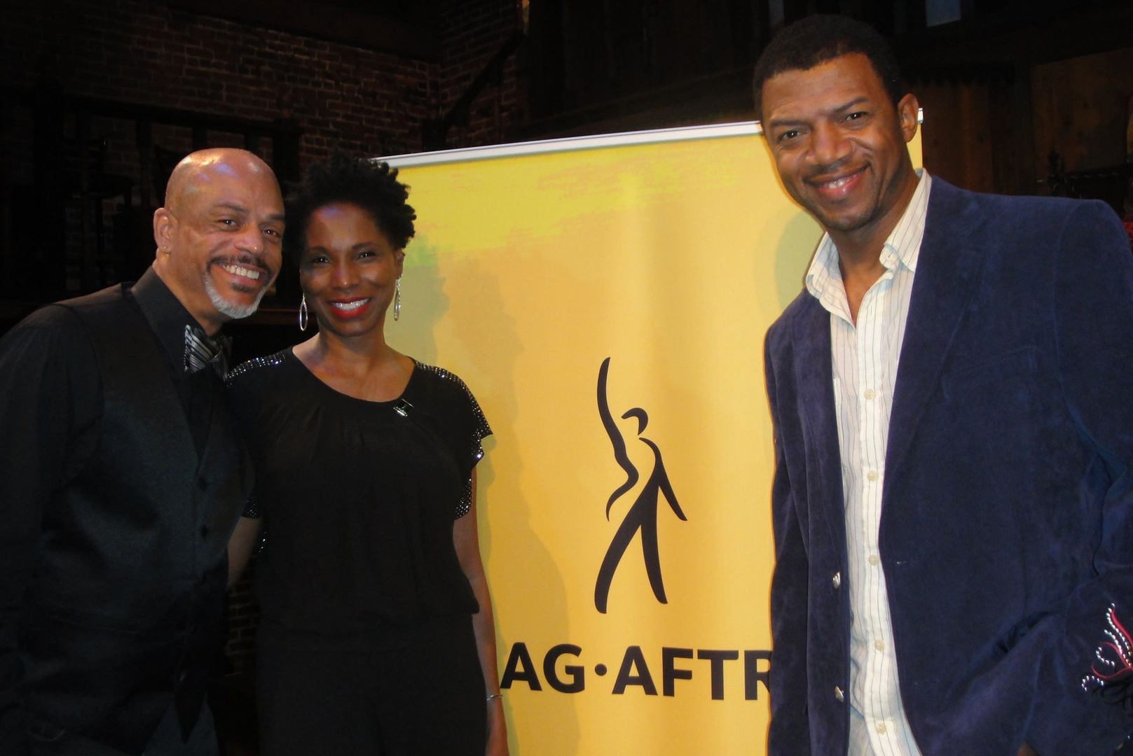 With Naylon Mitchell and Miles Mussenden at SAG AFTRA party