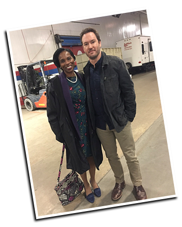 BEHIND THE SCENES:  Me with Mark Paul Gosselaar on the set of  The Passage