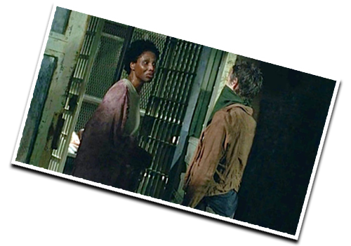 THE DREAM REALIZED:  Me with a speaking role on  The Walking Dead