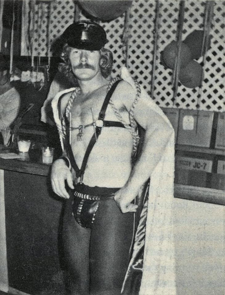 Michael Fesco at the Ice Palace in Cherry Grove, 1970