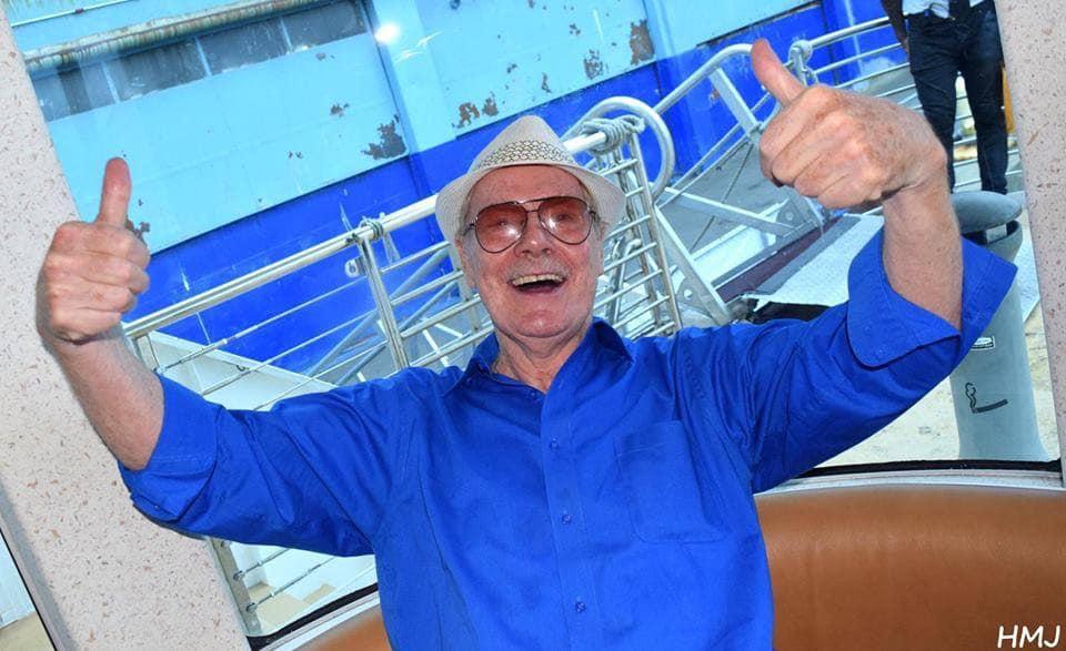 Michael Fesco aboard one of his Sea Tea cruises