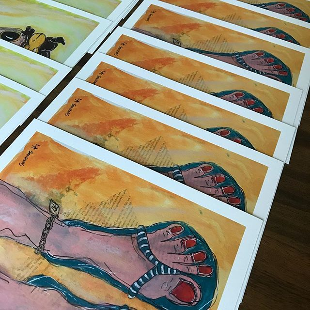 Summer is meant for bare feet! Here's some prints we did for artist LeeAnn Sanders! #aplisfineartprinting #fineartprinting #barefeet #artprints #siouxfalls #siouxfallsartists #siouxfallsprinting #digitalcapture