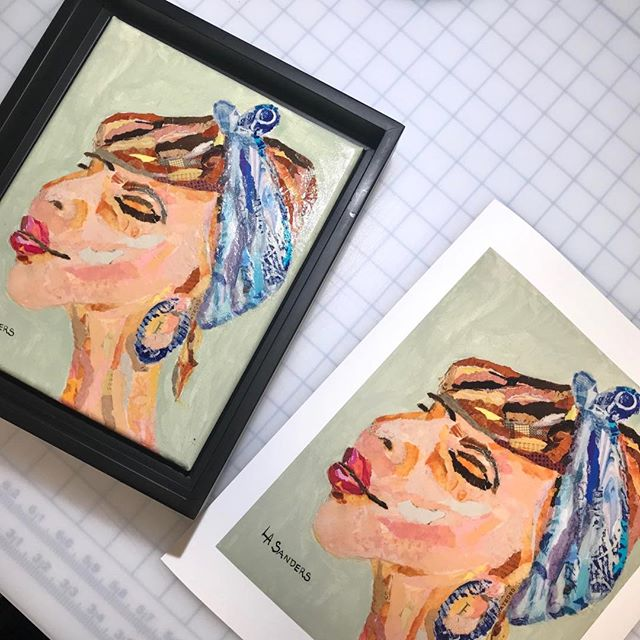 She has style!! Woman in Blue Scarf prints by Artist Lee Ann Sanders. @bluelagoonartandjewelry.  #siouxfallsartists #artprints #fineartprints #aplisfineartprinting #giclee #digitalcapture #fineartprinting #fineartprintingsiouxfalls #localartists #artists