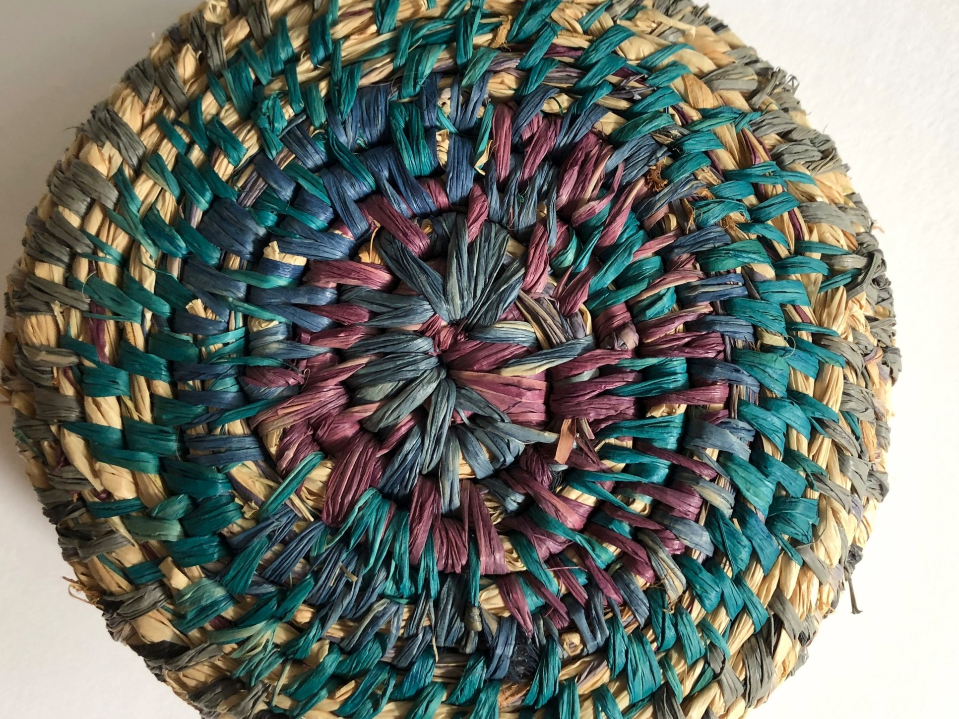 Raffia Coil Weaving - Hand dyed Raffia