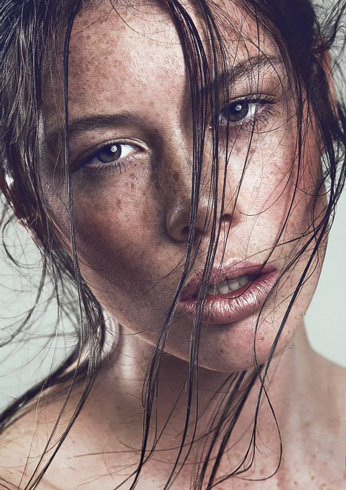 Beauty Makeup Highlighted Dewy Skin with Freckles  by Jaynelle Lording
