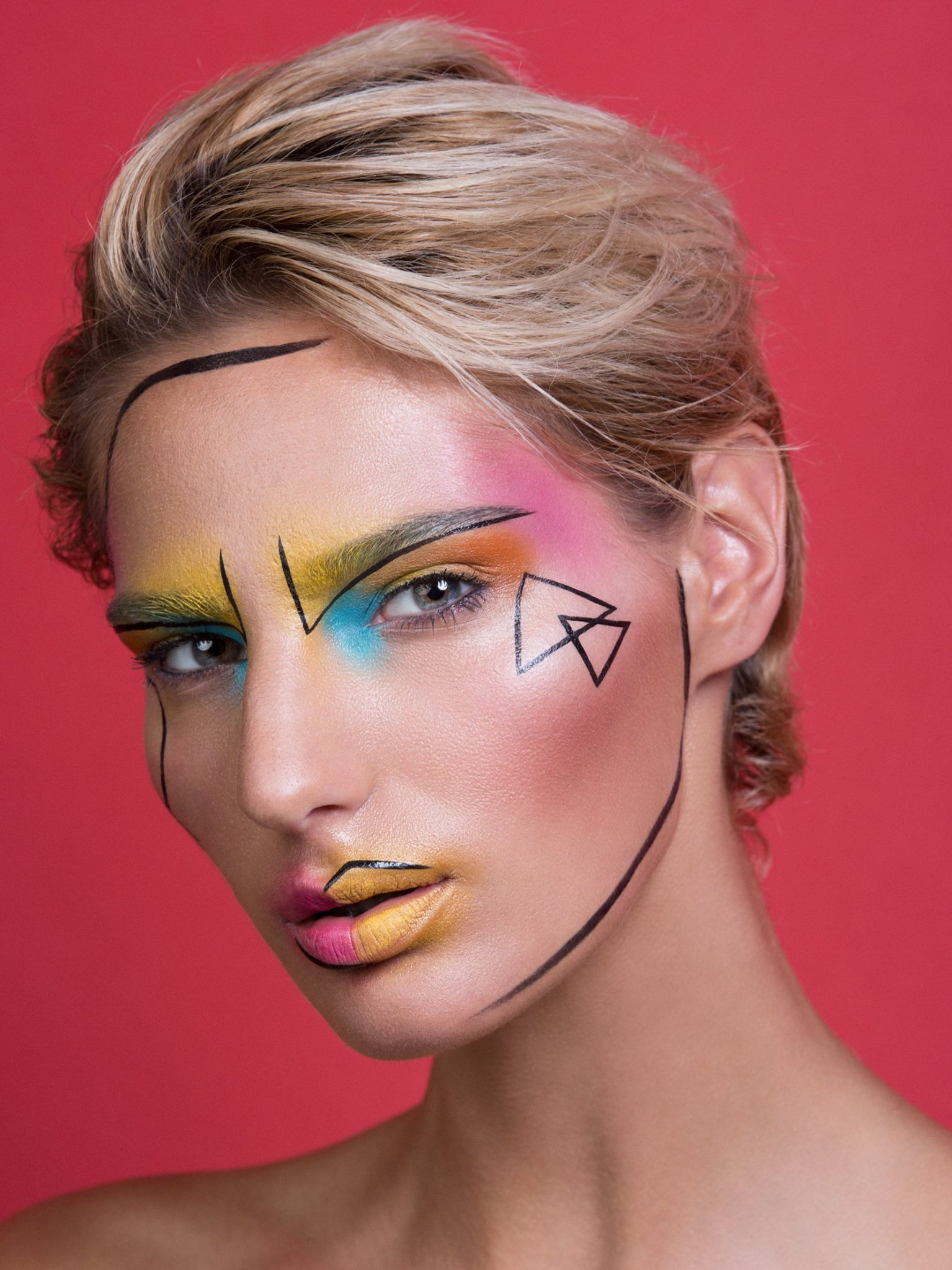 Creative Modern Pop Art Makeup by Jaynelle Lording