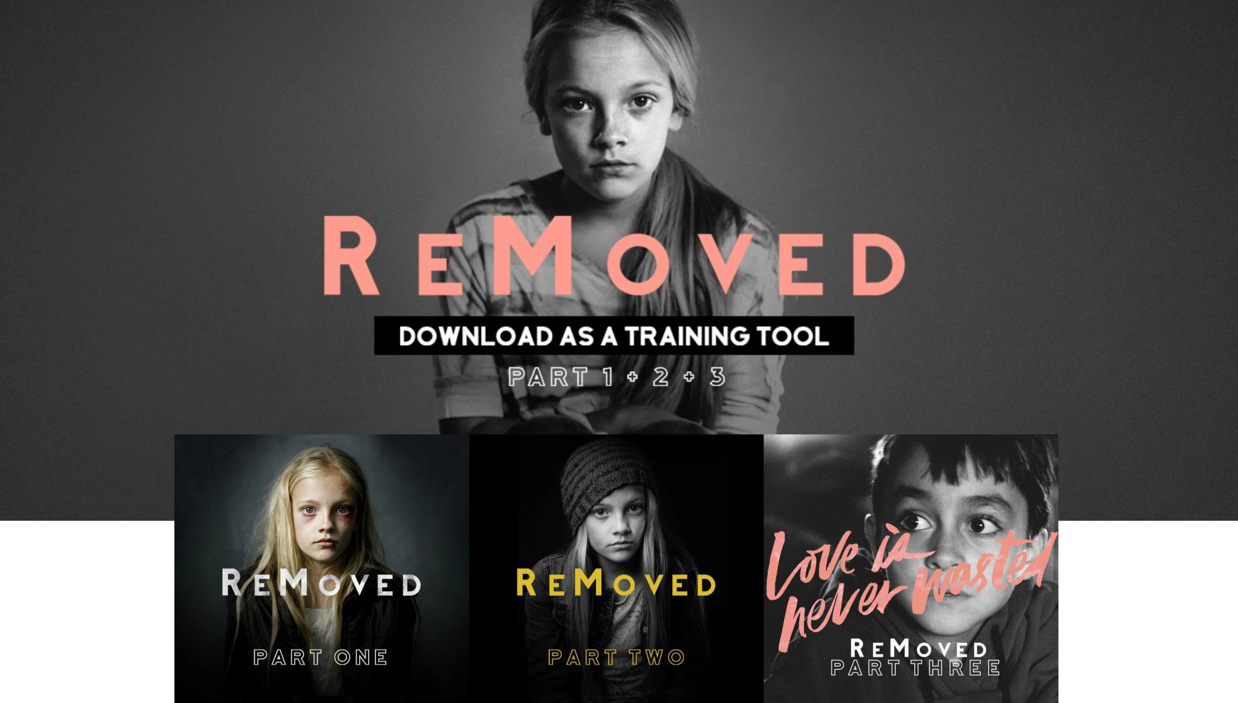 REMOVED - The ReMoved Films are being created with the intent to bring light to the often unknown subjects of Foster Care and Child Abuse/Neglect. The films educate those who are learning, while simultaneously identifying with those who understand all too well. The films are available online to watch for free. We do this because even though the cost of creating a film is high, we believe these films can have the most impact when they're most easily accessible.