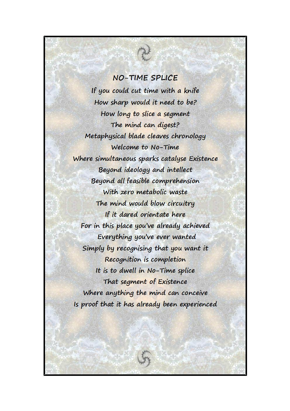 Poem comes printed on A4-sized paper, unframed
