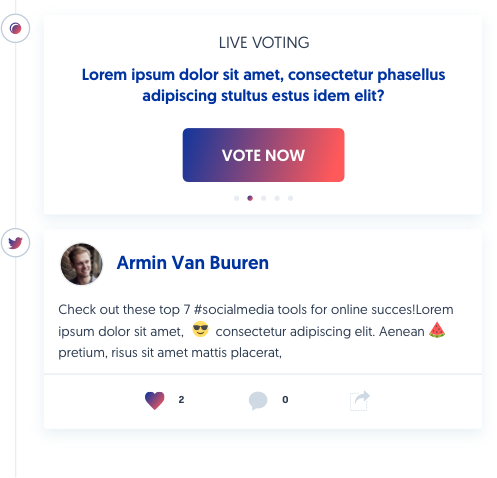 Direct messages, Poll, Surveys and Panel Q&A