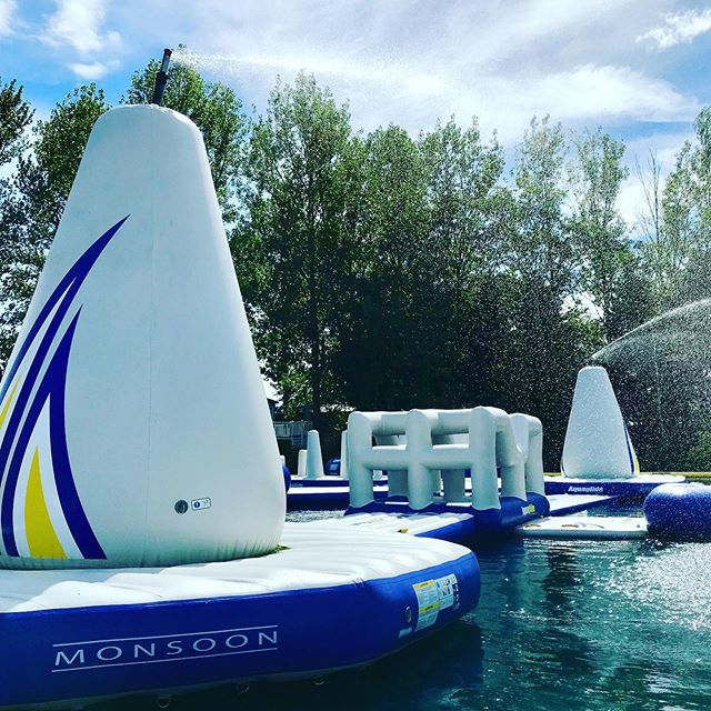 #monsoonseason has arrived at the #aquapark just in time for the #weekend - Good to see the blue sky back too! 💦💦☀️☀️ #evenmorefun #waterpark #waterfun #summerisback