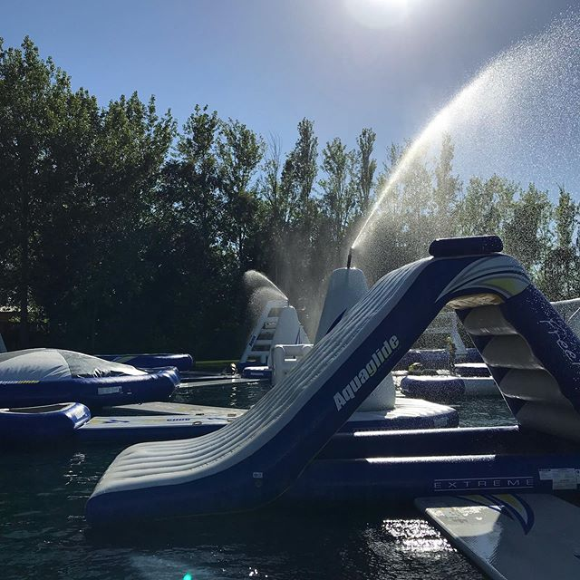 Our @aquaglide #monsoons here to ensure you have the best #heatwave #aquapark experience in the UK #saygoodbyetodryvinyl