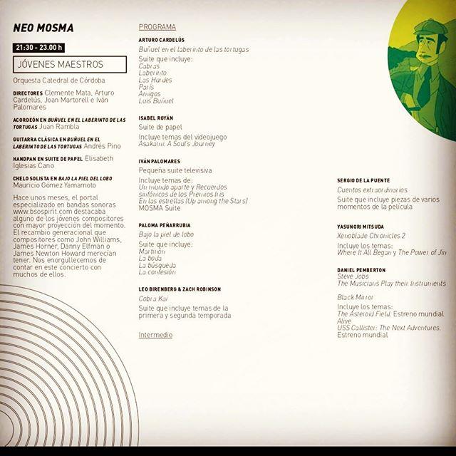 Next 4th of July I'll be conducting my music alongside this panel of talented peers in the Malaga International Film Music Festival (MOSMA) 🤟  #thespanishcomposer #thespanishconductor #goya #enlasestrellas @zoeberriatua #unmundoaparte @mundolanda