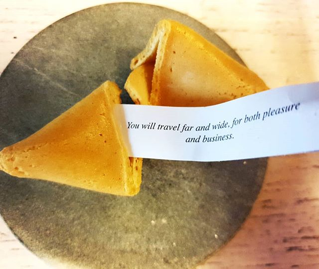 And as we all know, fortune cookies are never wrong, right? ;) #fortunecookie #travel