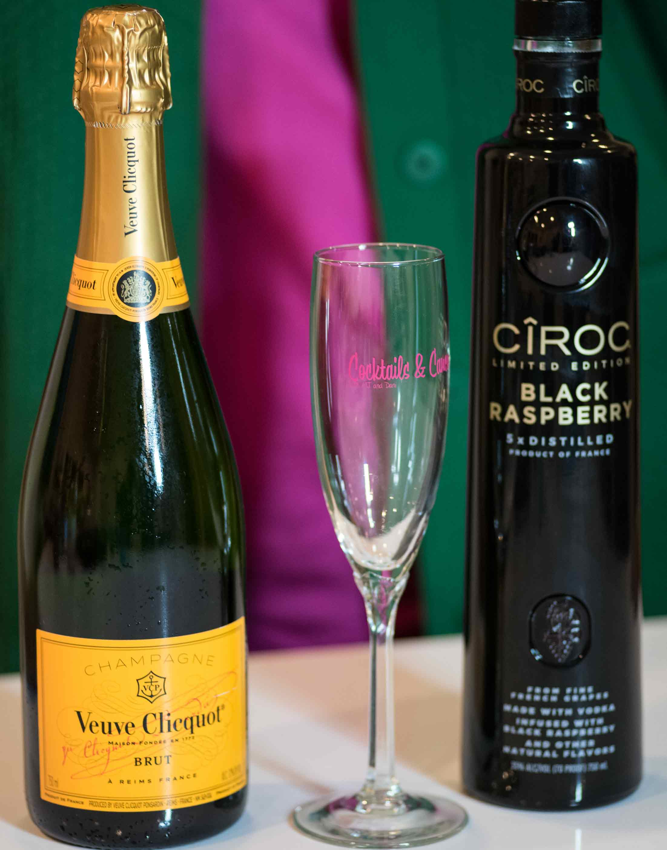 MJ's drink: Champagne and Ciroc Blackberry