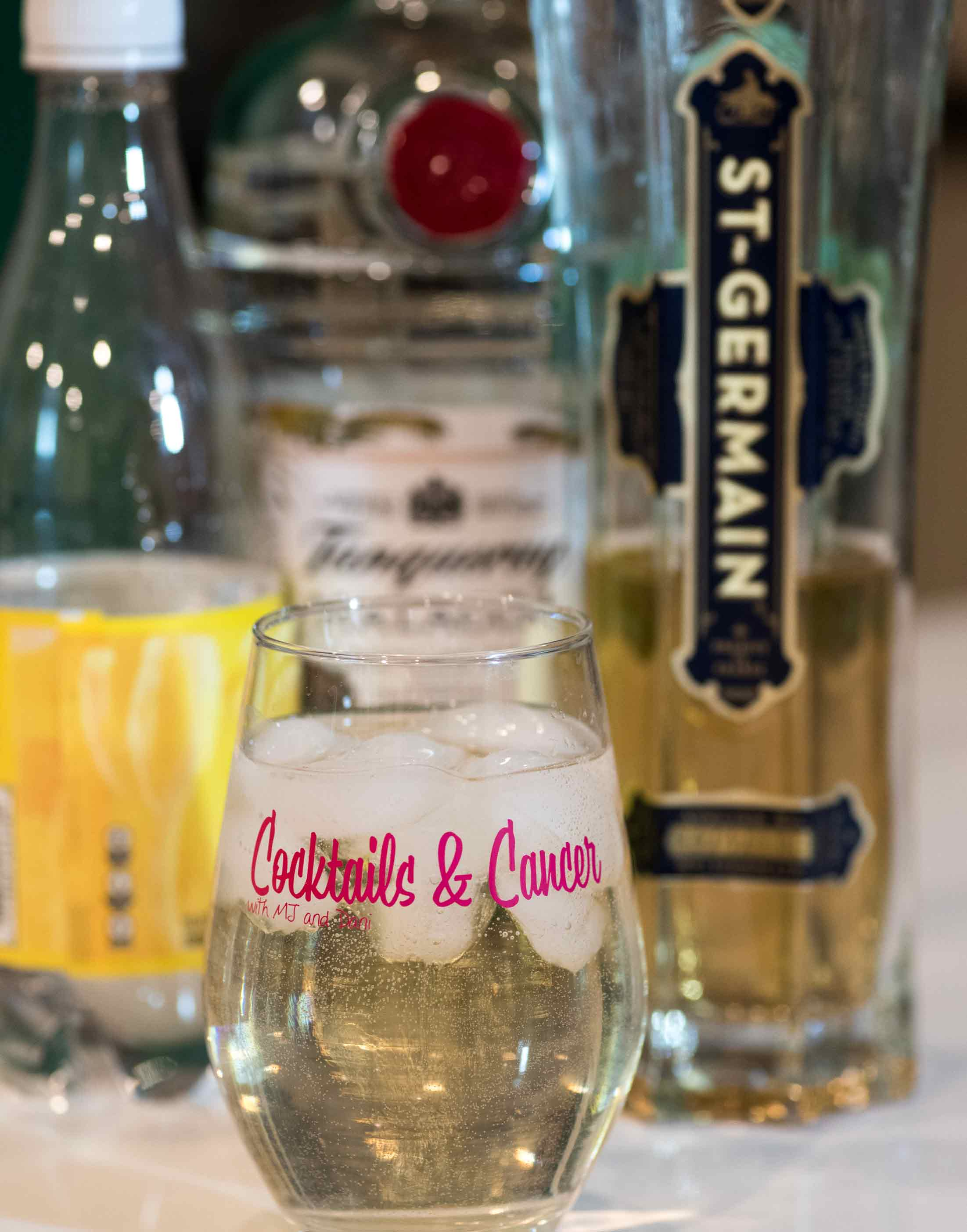 Dani's drink: Gin, St-Germain, Tonic