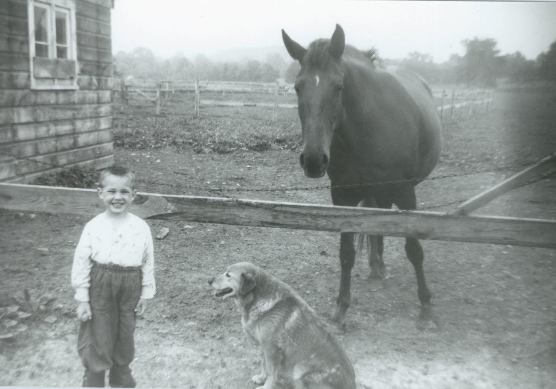 Don Peck with horse and dog 1950sA.jpg