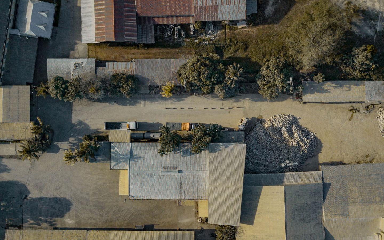 Aerial view of 3M Limestone plant