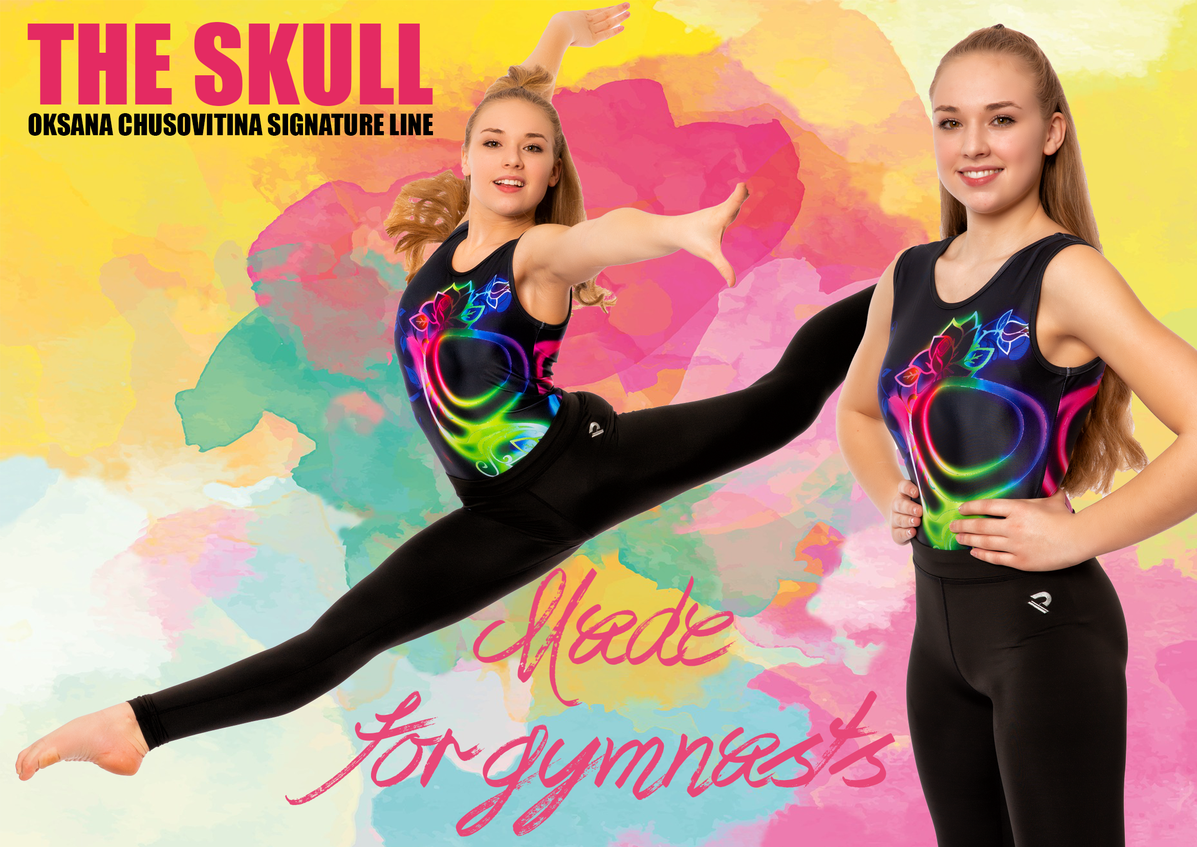 OKSANA CHUSOVITINASIGANTURE LINE - Ladys and Gentleman!We have the Incredible Signature Line from OKSANA CHUSOVITINA Olympian Gymnast and Guinessbook Worldrecord holder.Great Designs with OKSANA CHUSOVITINA Signature on every leotard.You can find all Leotards in our Online Shop.