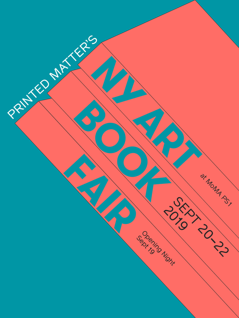 Printed Matter's NY Art Book Fair at MoMA PS1, September 20-22, 2019. Opening night September 19.
