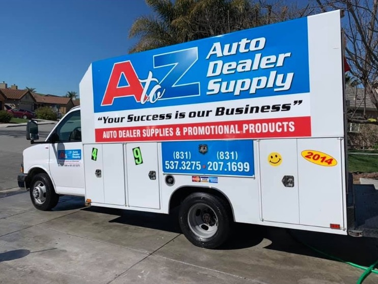 """Anything that will help promote your business or next special event. - Such as banners for buildings, """"A"""" frame sidewalk signs and vinyl decals or door magnets for vehicles."""