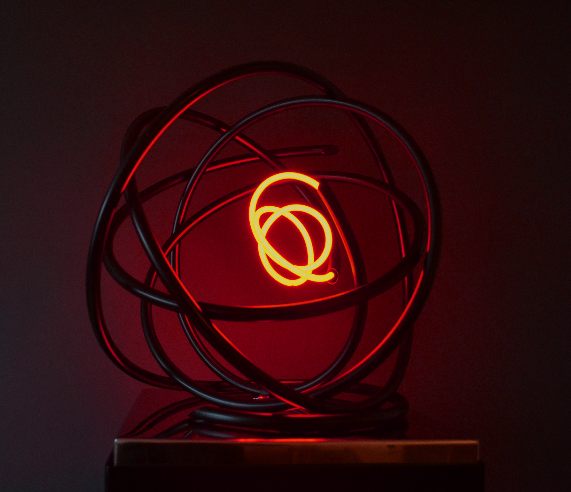 Small Red Neon Orb
