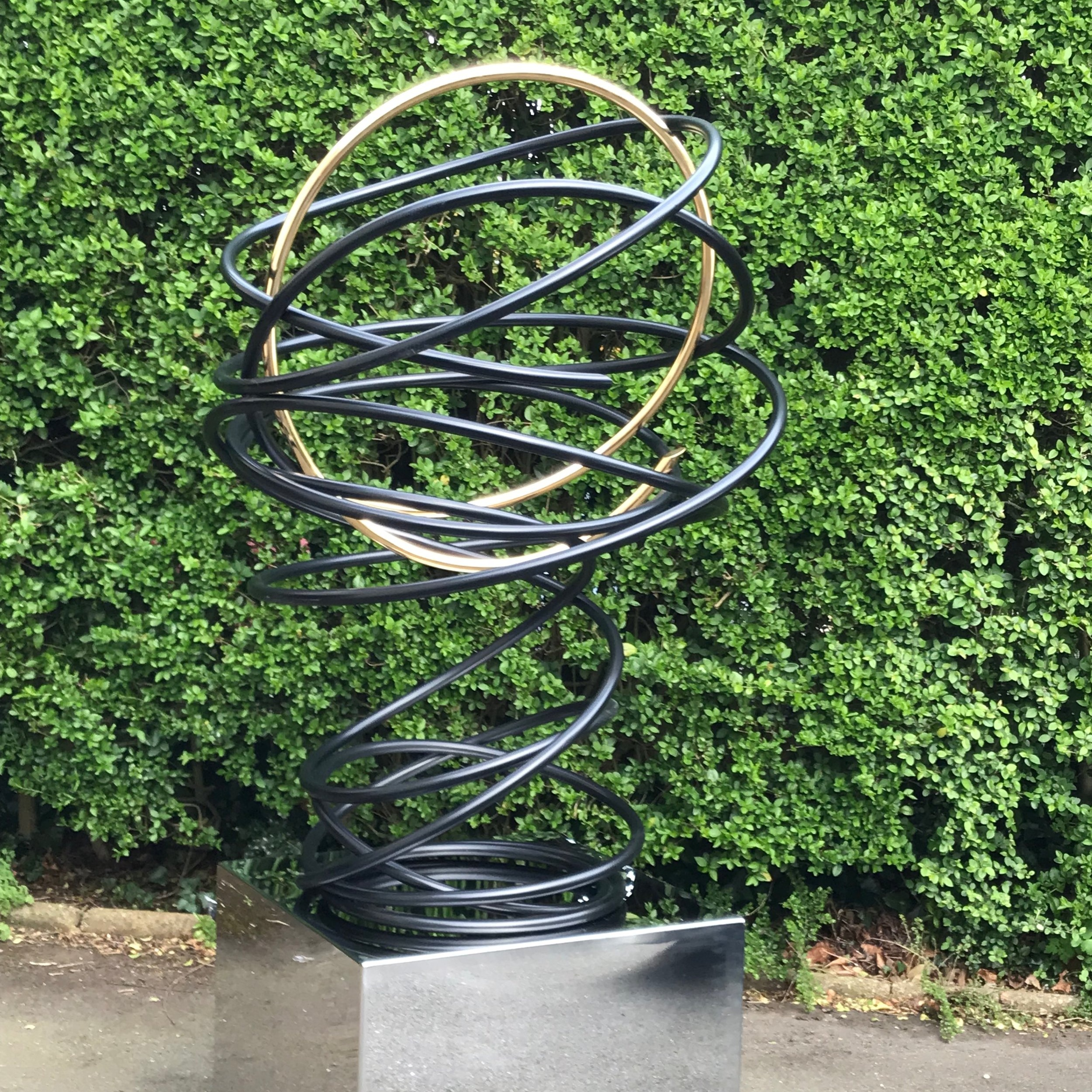 Gold in Black Tall Spiral