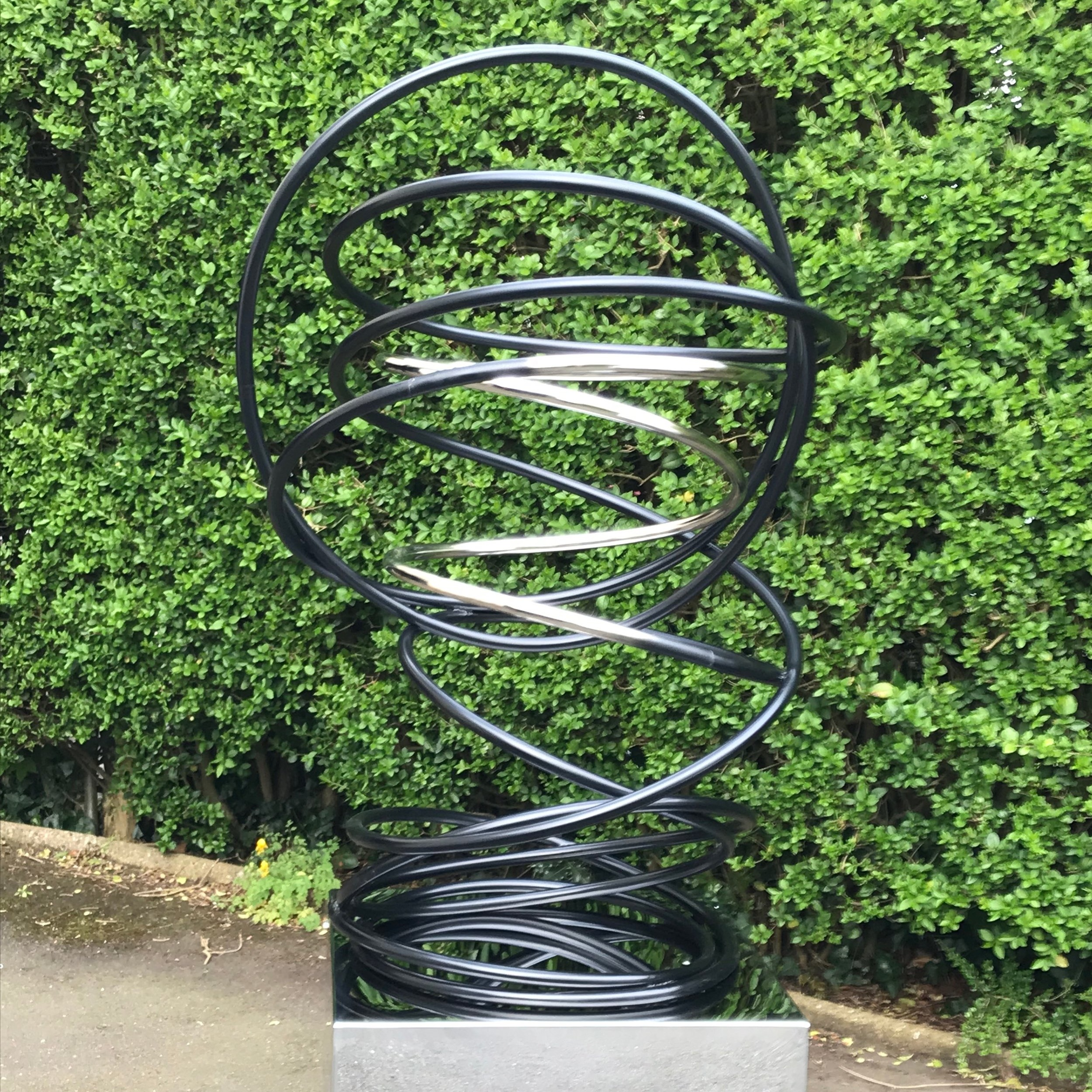 Silver in Black Tall Spiral