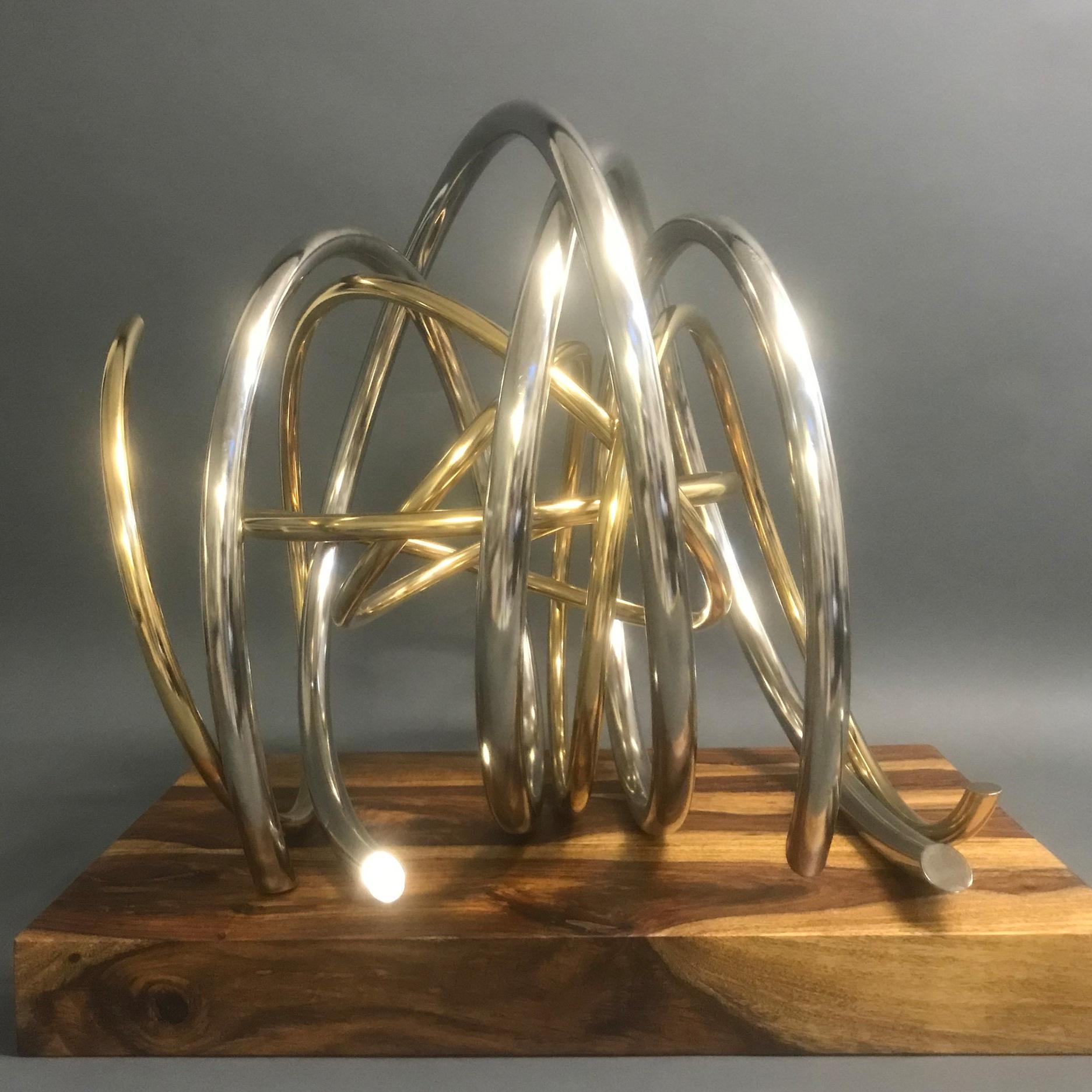 Gold in Silver Spiral