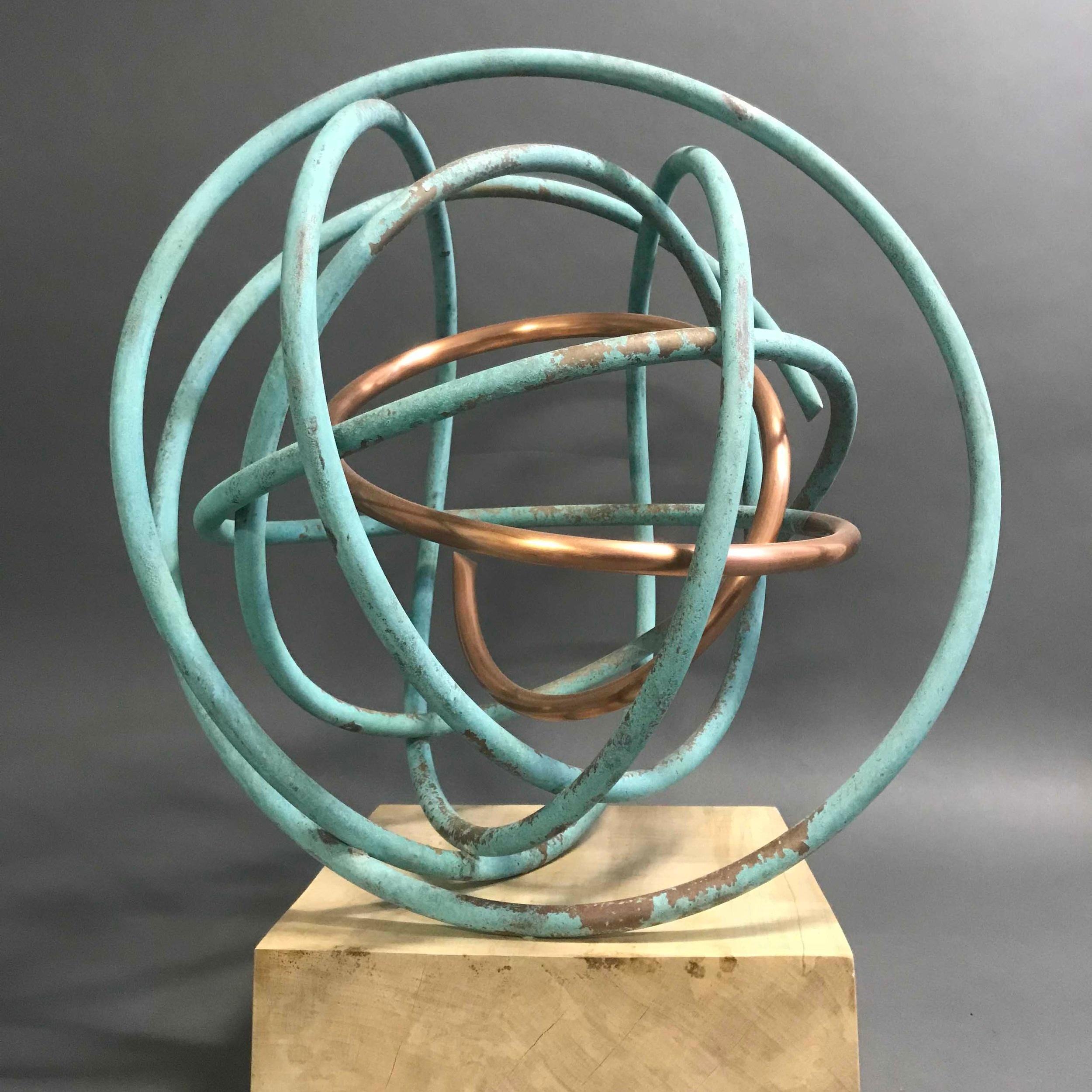 Copper in Verdigris Orb I
