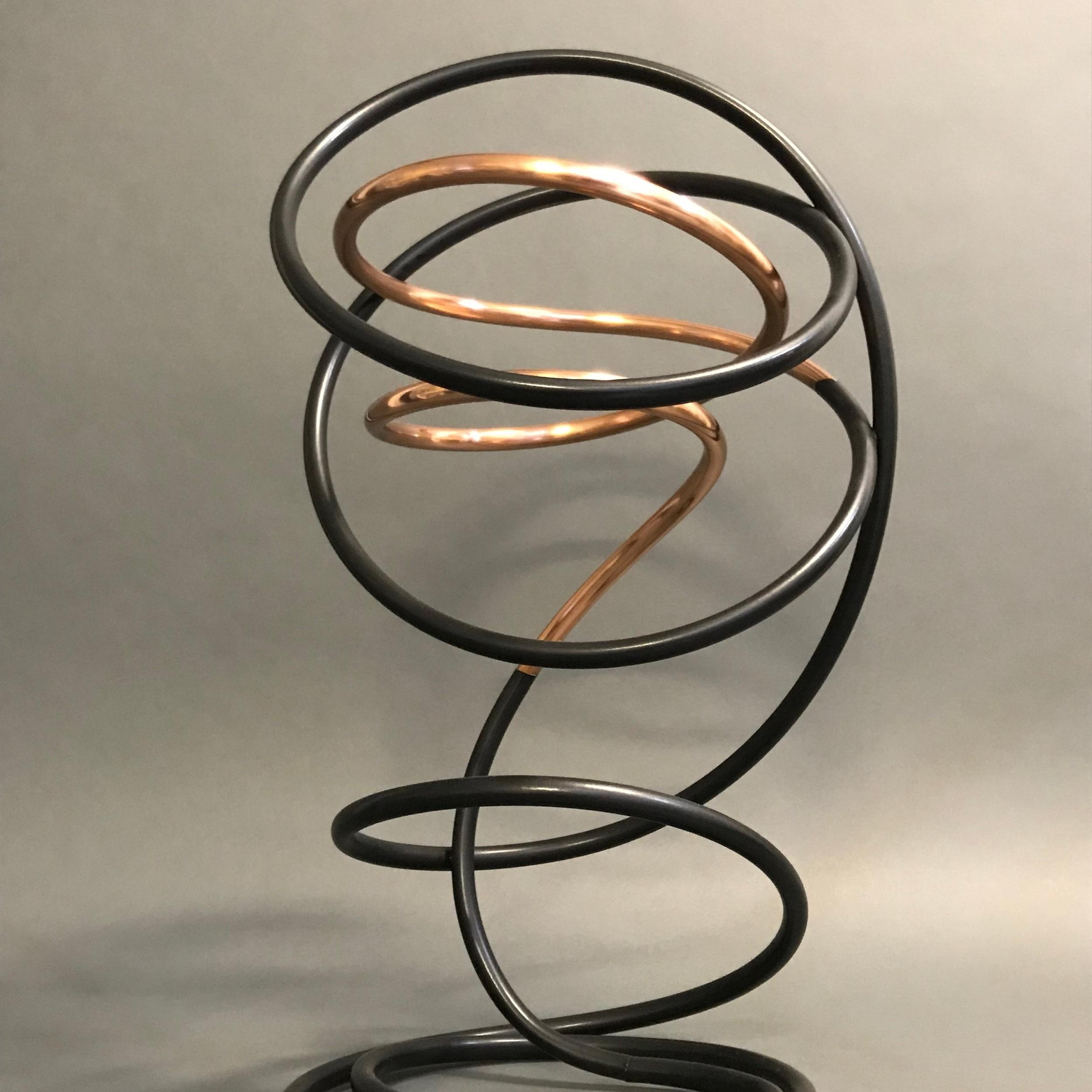 Copper in Black Spiral