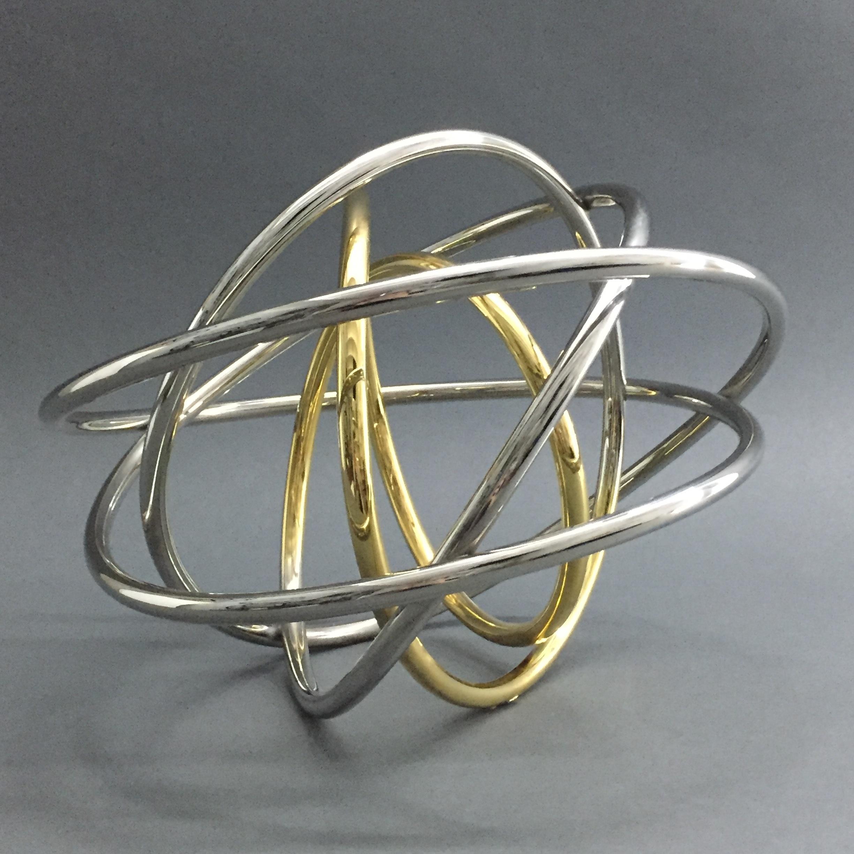Gold in Silver Orb III