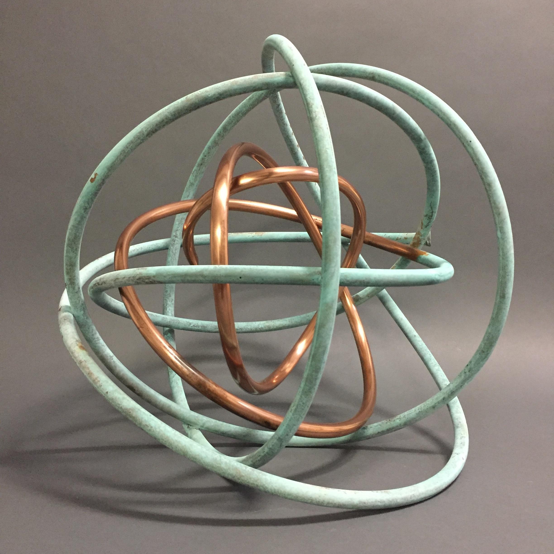 Copper in Verdigris Orb IX