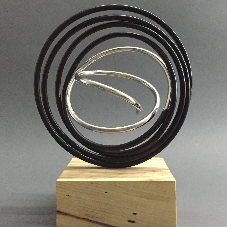 Silver in Black Spiral