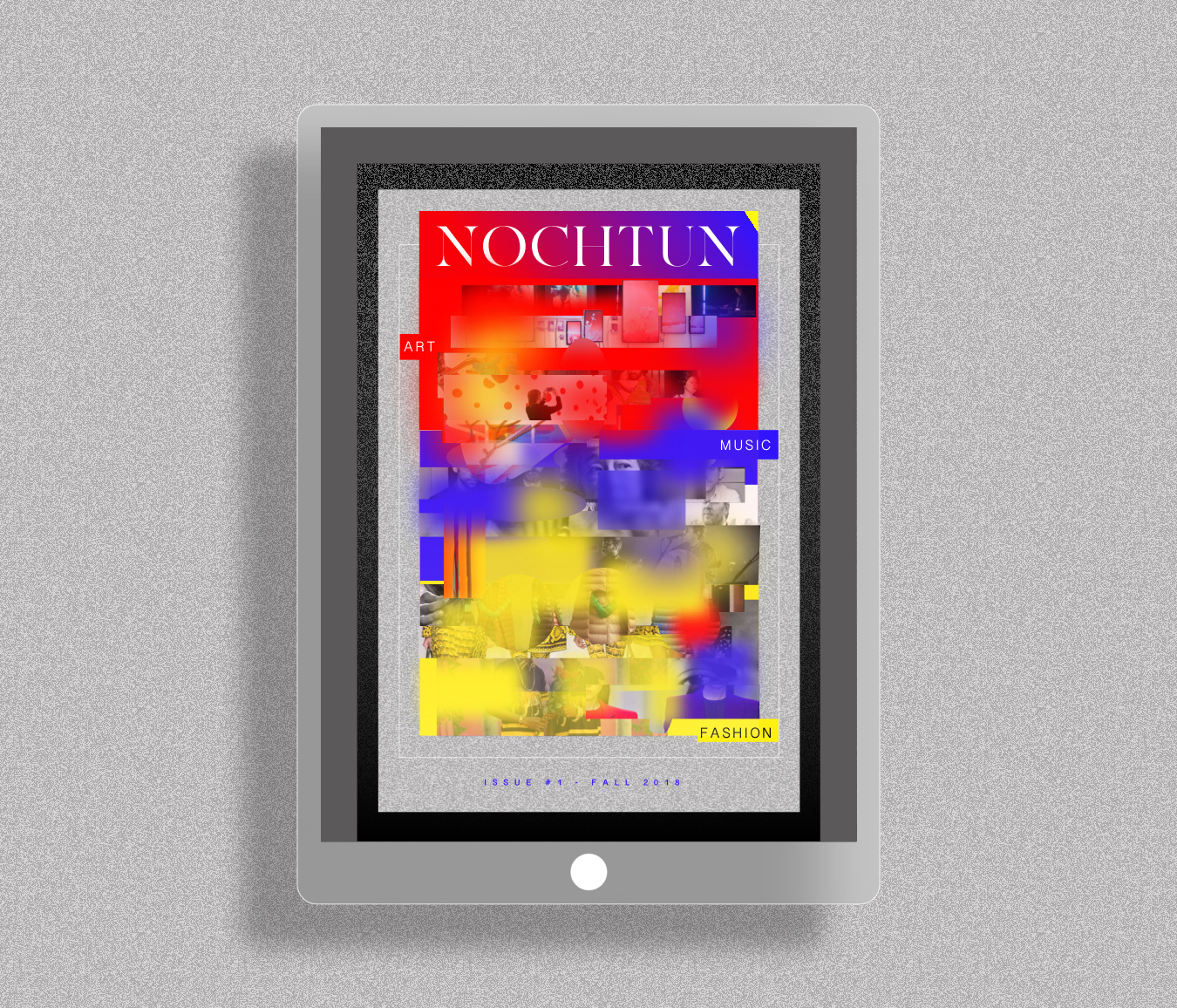 Nochtun - Nochtun is a concept for hybrid publication set in the future.I wanted to push boundaries and rethink what's possible, and at the same time learn how to use Principle to create stunning interactive animations.What will our designs looks like as our design tools become better and better at generating code?
