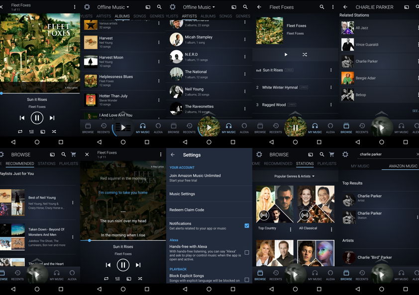The Problem - When it comes to Amazon's Music app, the material and UI design don't quite compete with the major players like Apple, Spotify or even Soundcloud. In addition, the look and feel could be better integrated within the scope of Amazon's digital products and services.