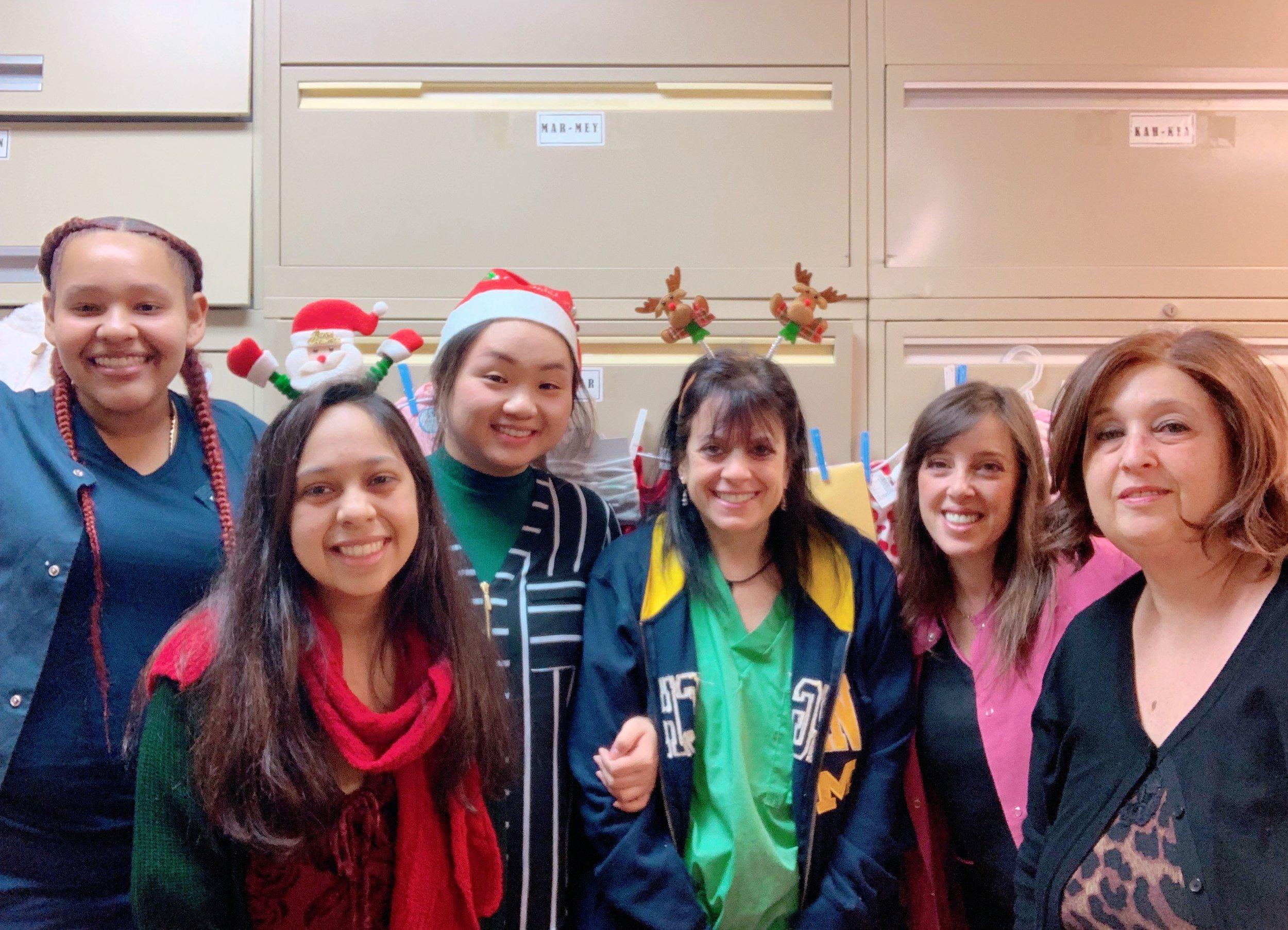 From left to right: Sabrina Cadena, Kristel Velez, Min Lu, Jodi Hollander, Michele Ruocco and Hope Cohen.