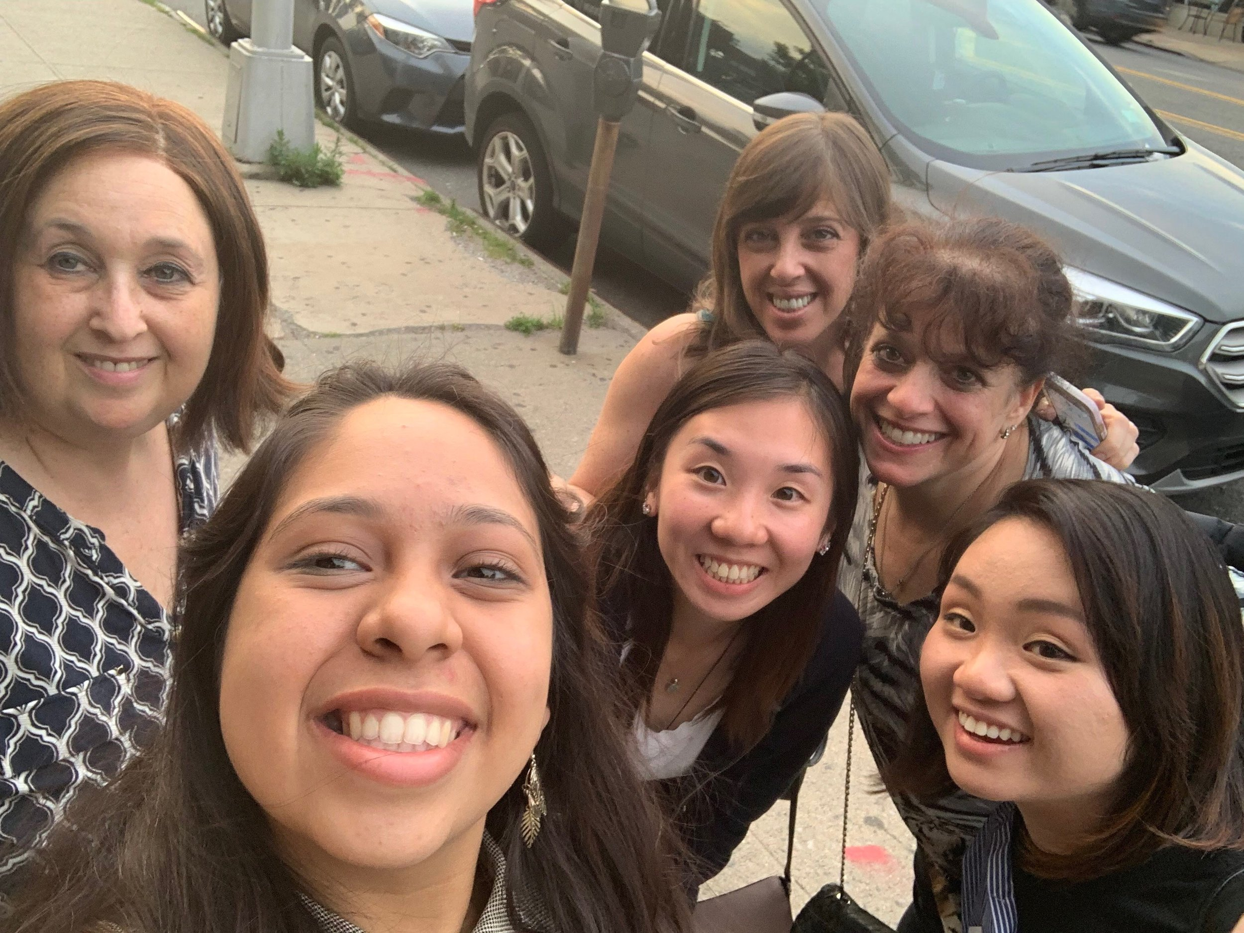 From left to right: Hope Cohen, Kristel Velez, Tiffany Tang Yu, Michele Ruocco, Jodi Hollander, and Min Lu.