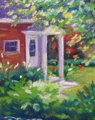 Located in the former hayloft of our red brick barn, my studio is just a short walk across our back garden.