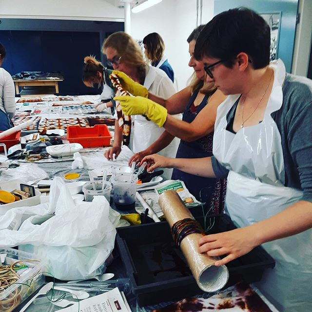 More wonderful pics from @feralartschool and their textile students in our Studios.  Not long till we can confirm artists for the studios and announce memberships too!