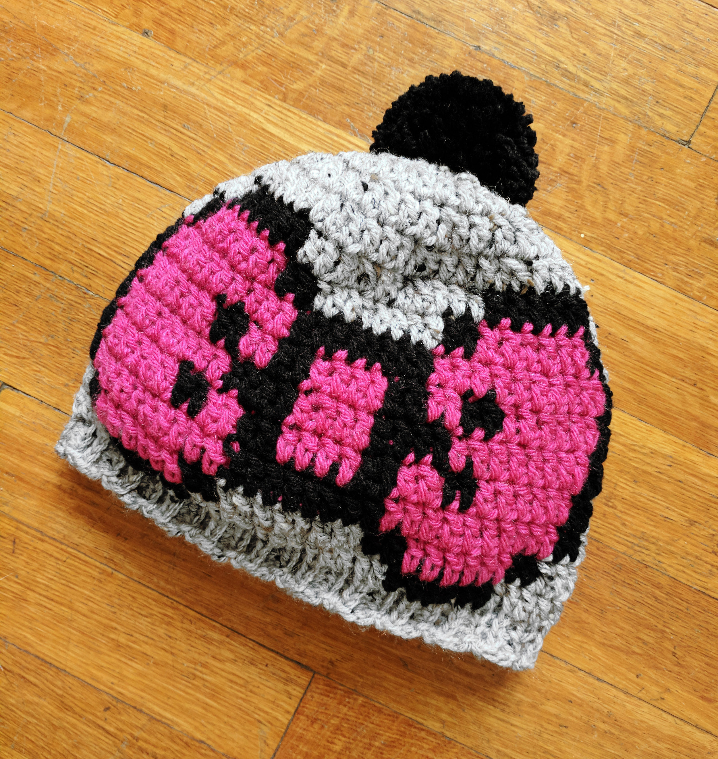 Join my email list and you'll get this exclusive crochet pattern, a pixel bow hat, for free! -