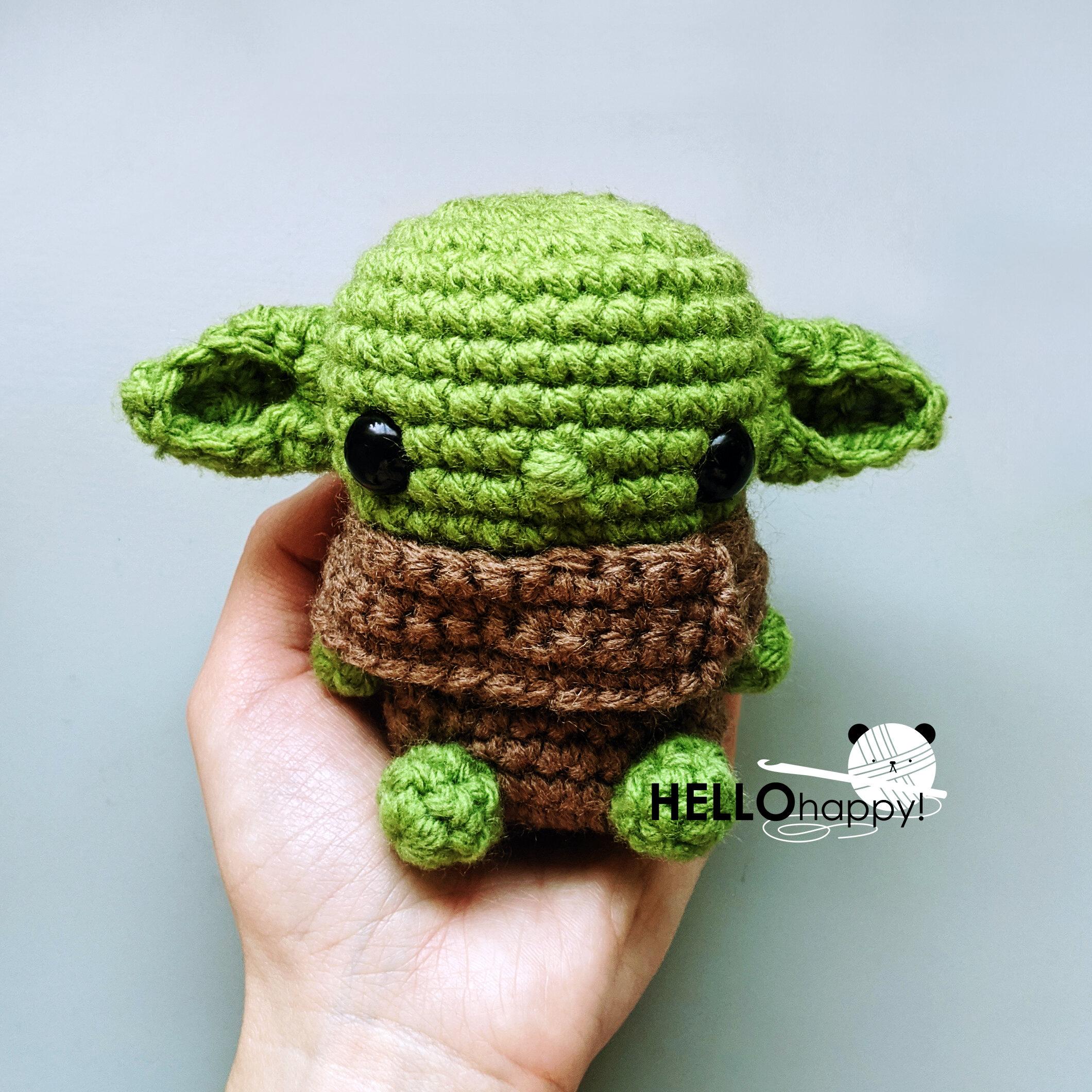 FREE AMIGURUMI PATTERN: Star Wars Yoda | Star wars crochet ... | 1000x1000