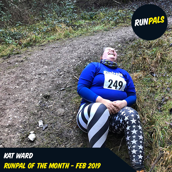 Kat Ward - Feb '19 - Kat shows true RunPals spirit in everyting she gets involved in. Whether volunteering, cheering, or just giving things a go. But for February, we were so impressed that Kat got stuck in to the Slindon Slog 2019, which was billed as an incredibly muddy challenging run. But, she did it. And certainly seemed to enjoy it, judging by this awesome picture. We're stoked to have Kat as part of our wonderfabulous RunPals. Congrats Kat on being our first RunPals of the Month!