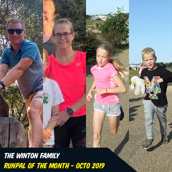 Oct 2019 - Winton Family - If you asked me what makes a RunPal, I would say the Winton family. They are epic RunPals, joining in at weekly sessions (EVERY SINGLE WEEK). They work hard, they play hard, and they an absolute delight to have at RunPals. The kids support each other. Mom and Dad support the kids (and each other too ;). They embody everything there is to be a RunPal.