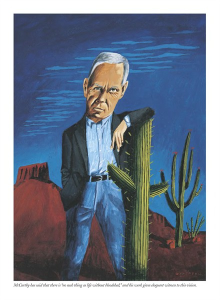 Illustration of Cormac McCarthy, Mark Ulriksen,  The New Yorker  (July 25, 2005)