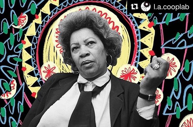 """#Repost @l.a.cooplab ・・・ """"I tell my students, 'When you get these jobs that you have been so brilliantly trained for, just remember that your real job is that if you are free, you need to free somebody else. If you have some power, then your job is to empower somebody else."""" - Toni Morrison, Rest in Power #tonimorrison #restinpower"""