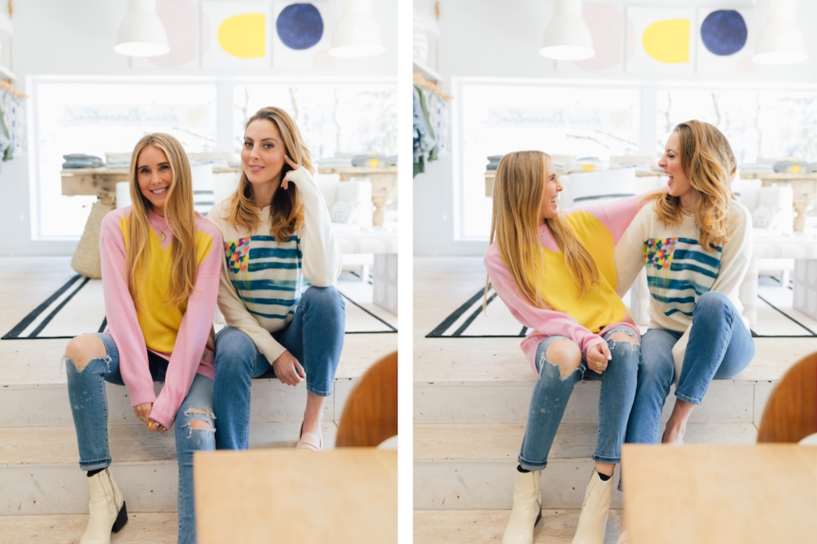 Two of my favorite people! My eldest daughter, Ali Heitz and Eva in our comfy  cashmeres .
