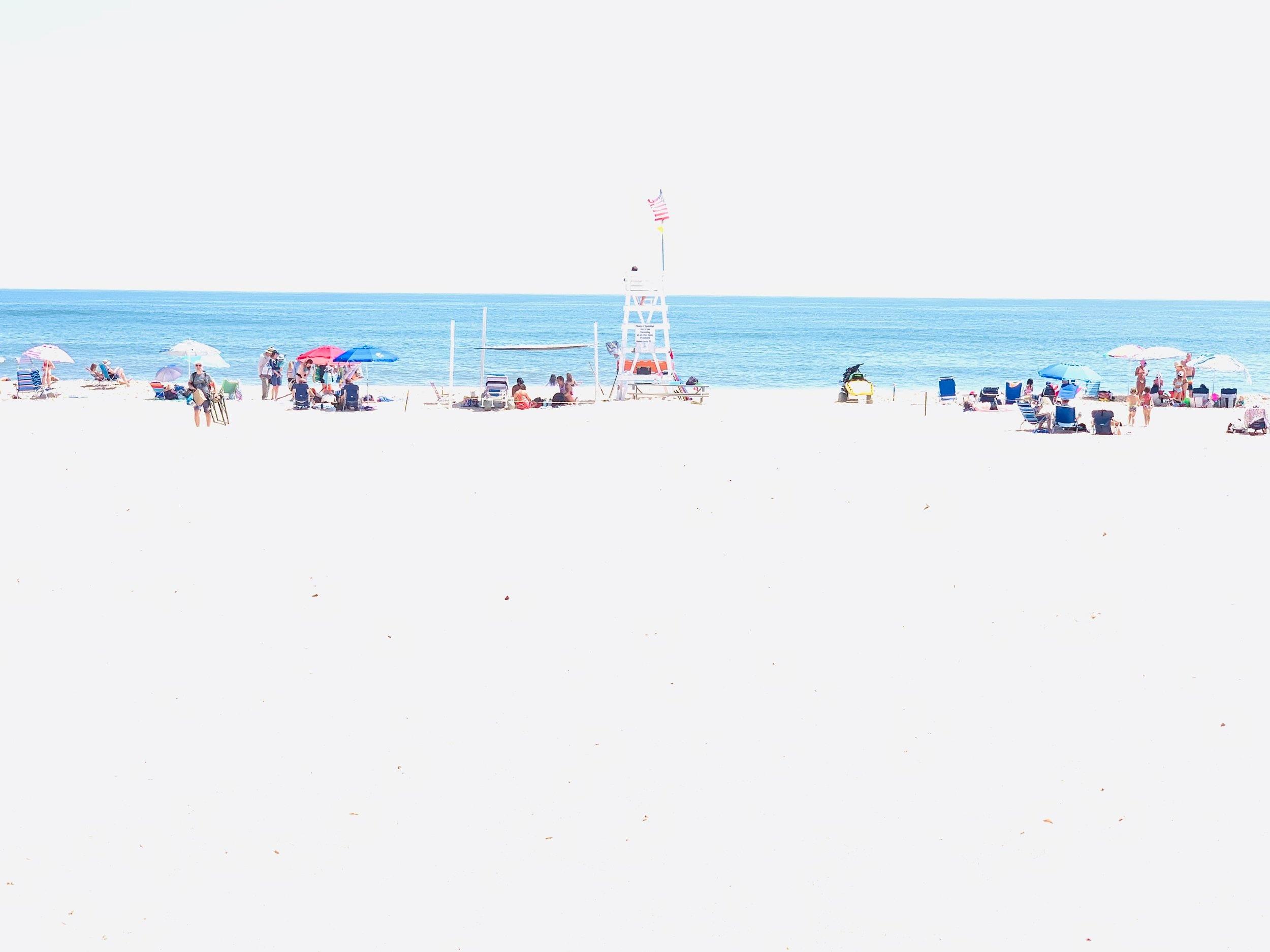 New mixed media print exclusive, It's A Shore Thing. Atlantic Ave Beach, Ammagansett 2019